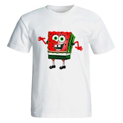تی شرت آستین کوتاه زنانه طرح یلدا باب اسفنجی کد 4928