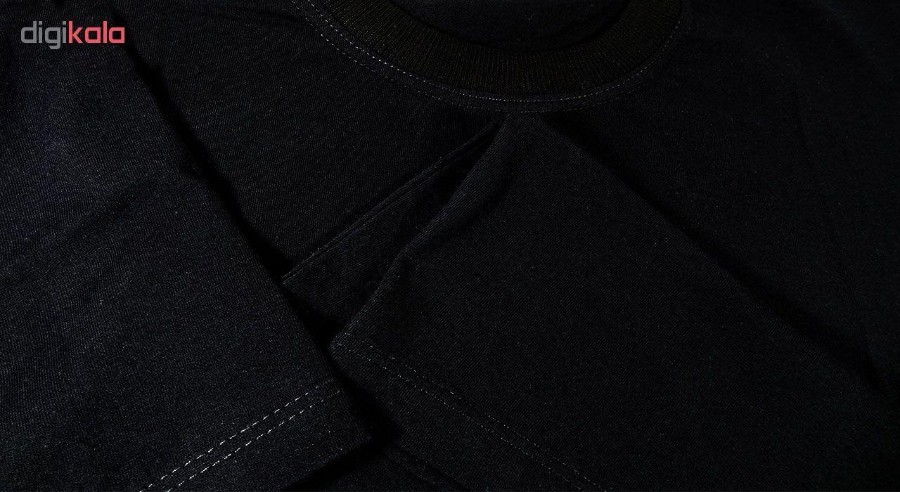 تی شرت آستین کوتاه مردانه طرح اسکلت کد ۱۸۰۱۱ BW main 1 3