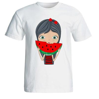 تصویر تی شرت آستین کوتاه زنانه طرح یلدا دختر کد 4927