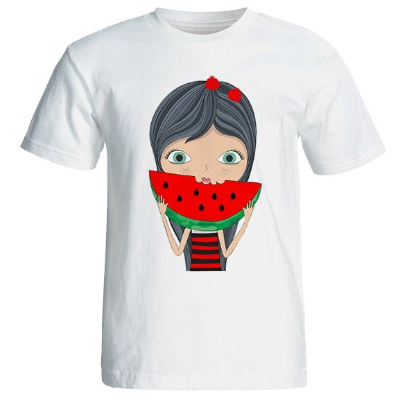تی شرت آستین کوتاه زنانه طرح یلدا دختر کد 4927