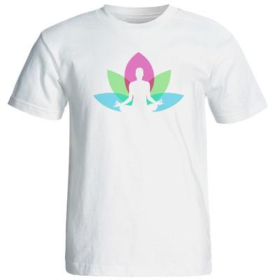 تصویر تی شرت زنانه طرح یوگا کد 12873