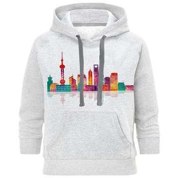 هودی مردانه طرح شهر رنگی کد S116
