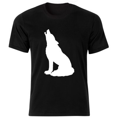 Photo of تی شرت آستین کوتاه مردانه طرح گرگ کد ۱۸۰۳۰ BW