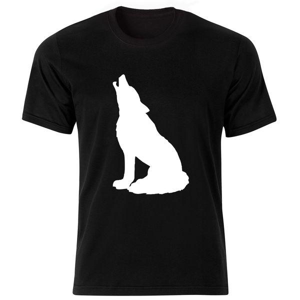 تی شرت آستین کوتاه مردانه طرح گرگ کد ۱۸۰۳۰ BW