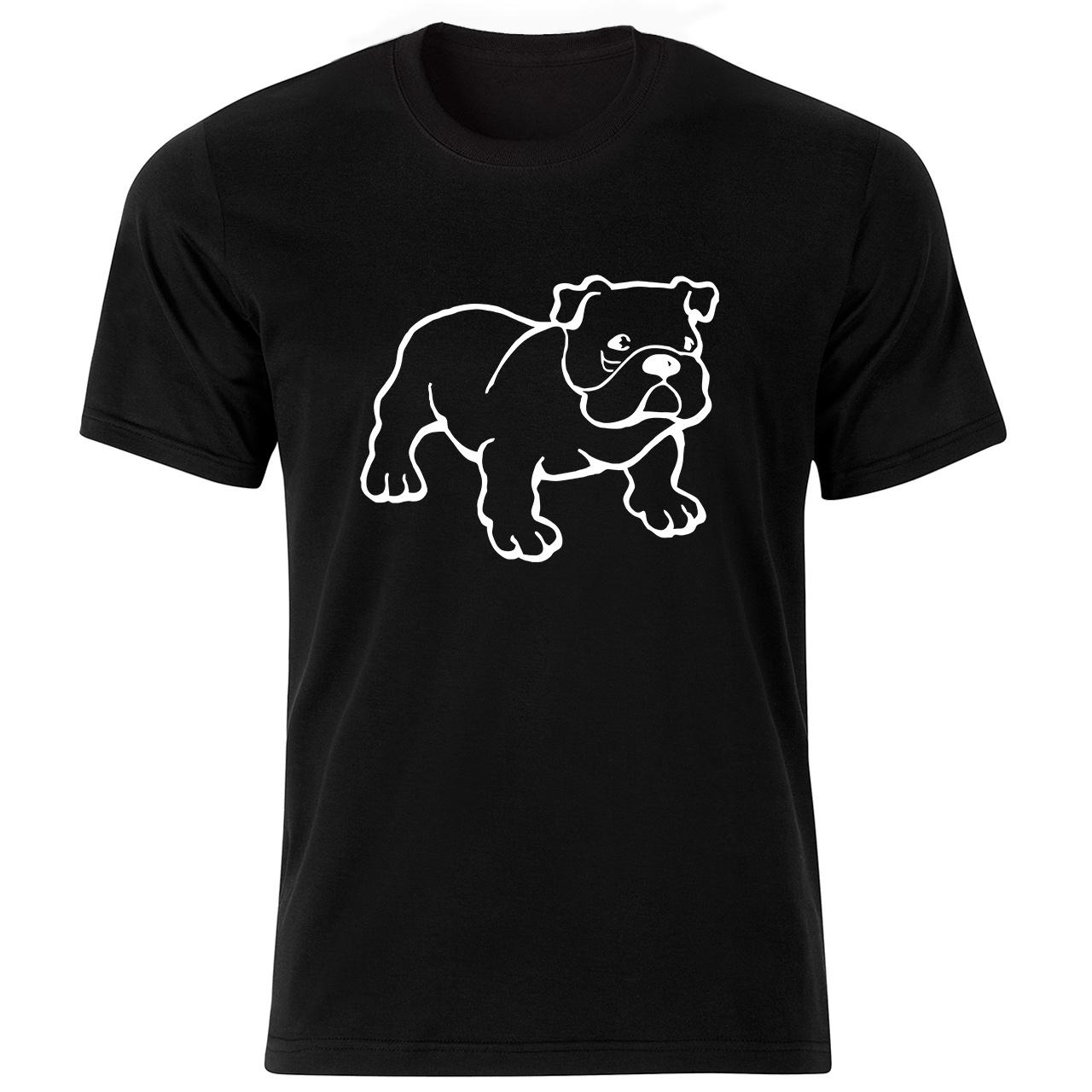 تی شرت آستین کوتاه مردانه طرح سگ کد ۱۸۰۳۲ BW