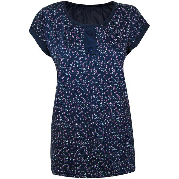 تی شرت زنانه مدل Rosy Dark Blue