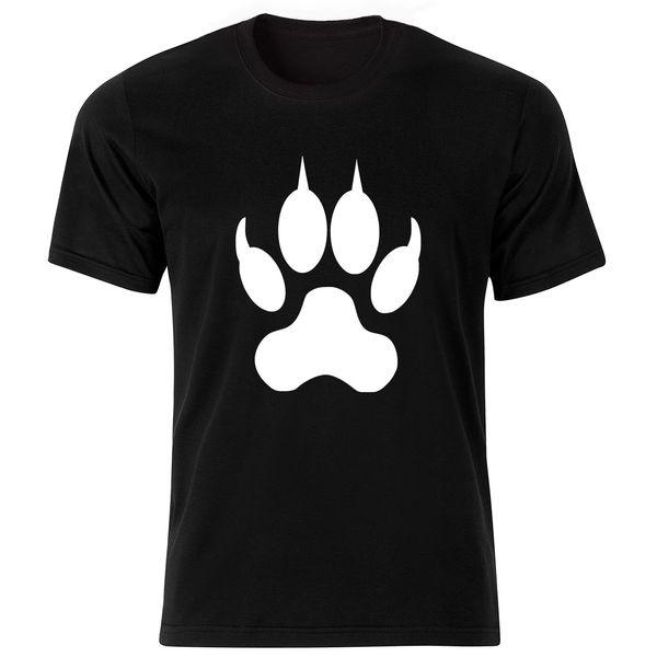 تی شرت آستین کوتاه مردانه طرح پنجه کد ۱۸۰۵۱ BW
