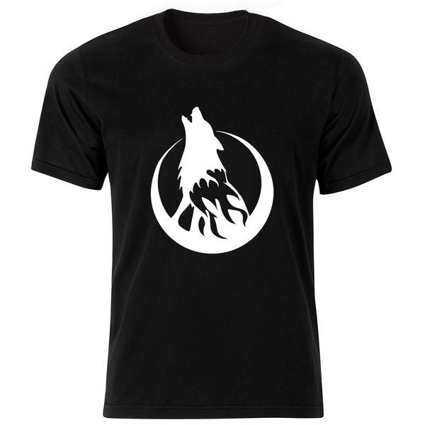 تی شرت آستین کوتاه مردانه طرح گرگ کد ۱۸۰۴۱ BW