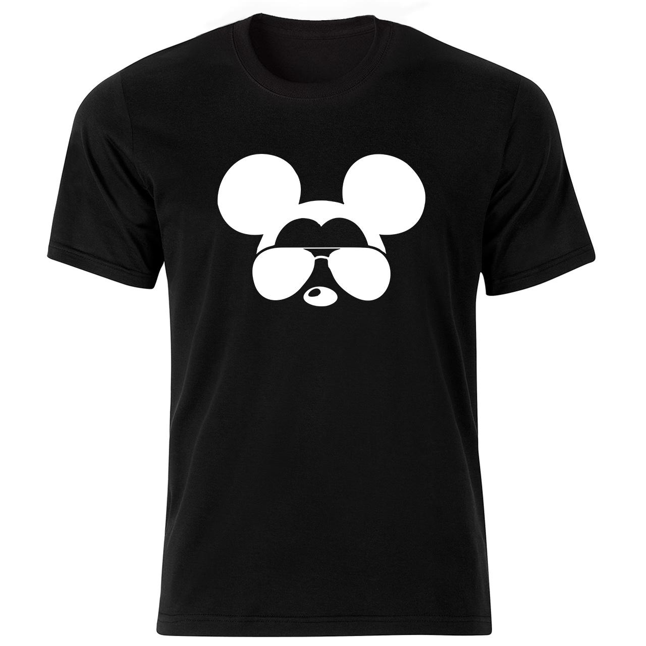 تی شرت آستین کوتاه مردانه طرح میکی موس کد ۱۸۰۵۳ BW