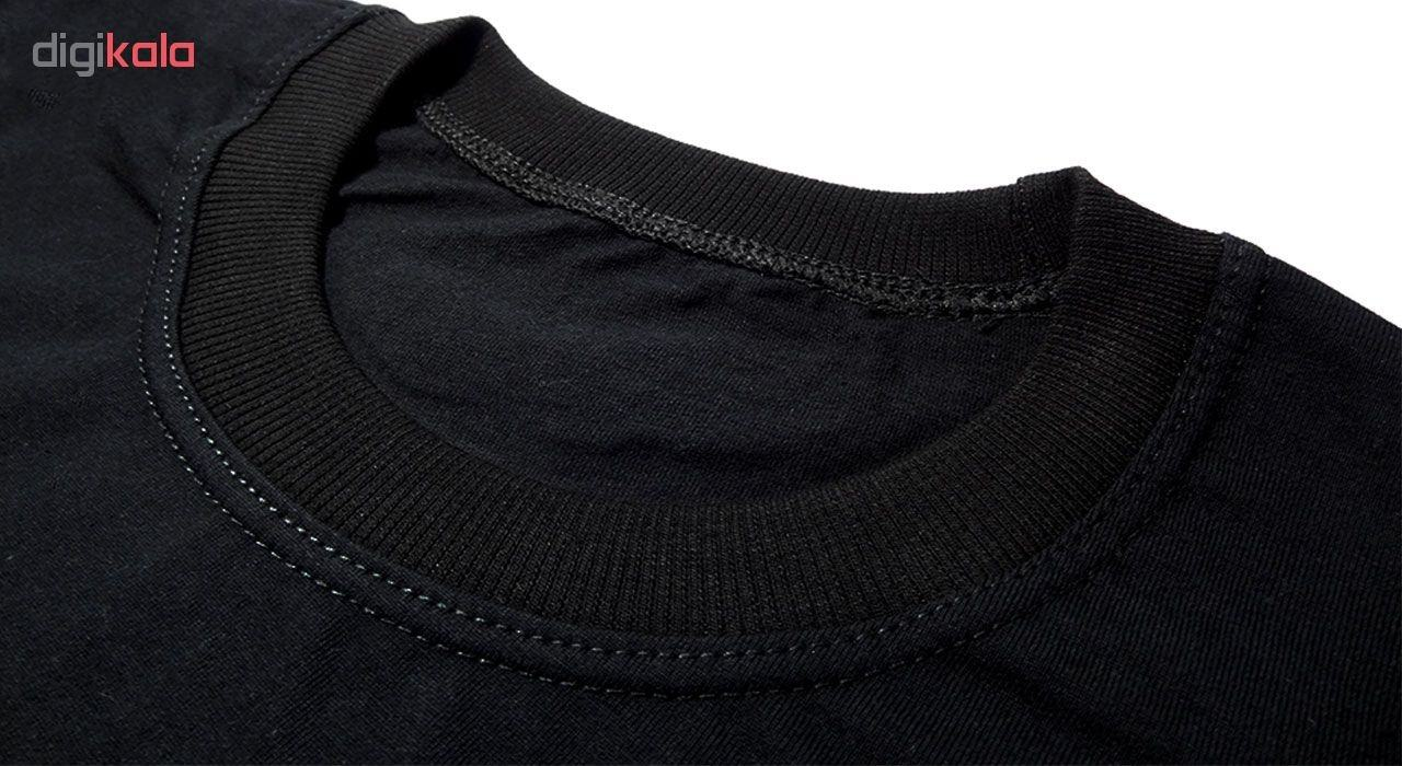 تی شرت آستین کوتاه مردانه طرح میکی موس کد ۱۸۰۷۱ BW
