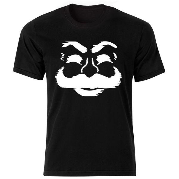 تی شرت آستین کوتاه مردانه طرح مستر ربات کد ۱۸۰۲۸ BW