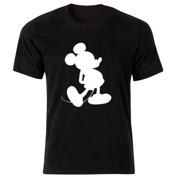 تی شرت آستین کوتاه مردانه طرح میکی موس کد ۱۸۰۶۰ BW