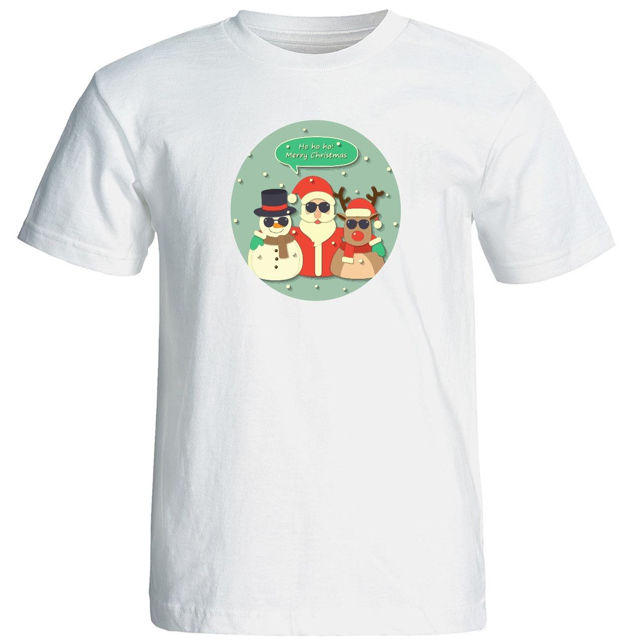 تصویر تی شرت زنانه طرح کریسمس 15502