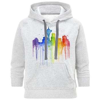 هودی مردانه طرح شهر رنگی کد S135