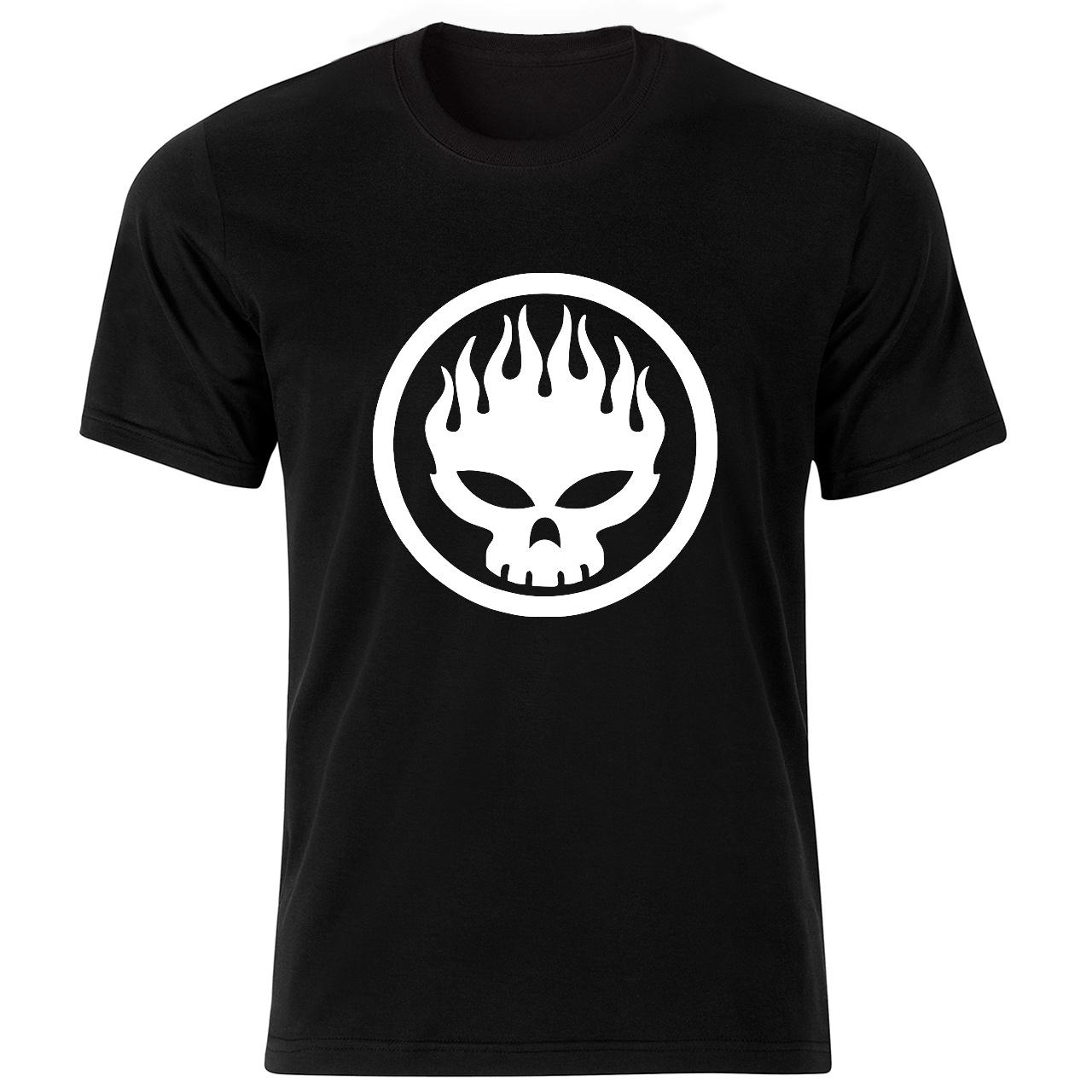 تی شرت آستین کوتاه مردانه طرح اسکلت کد 18139 BW