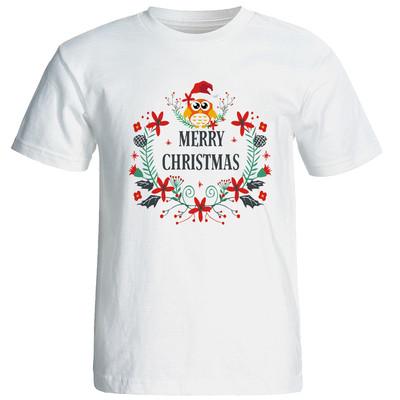 تی شرت آستین کوتاه مردانه طرح کریسمس کد 2115