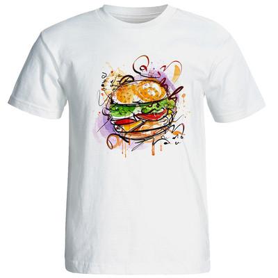 تی شرت زنانه طرح همبرگر کد 3387