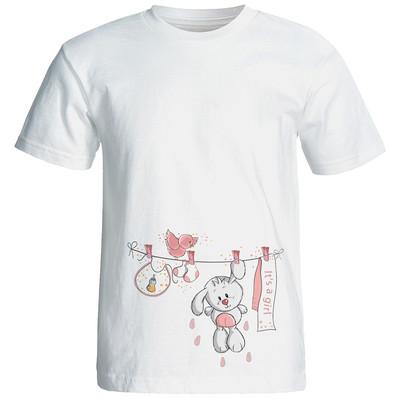 تصویر تی شرت زنانه طرح بارداری کد 3474