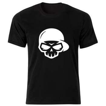 تی شرت آستین کوتاه مردانه طرح اسکلت کد ۱۸۱۵۱ BW