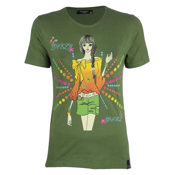 تی شرت زنانه پلاس ناینتی مدل GR02