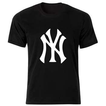 تی شرت آستین کوتاه مردانه طرح نیویورک کد 18181 BW