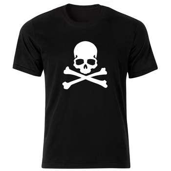 تی شرت آستین کوتاه مردانه طرح اسکلت کد ۱۸۱۹۵ BW