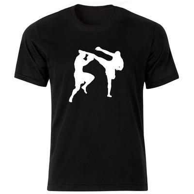 تی شرت آستین کوتاه مردانه طرح بوکس کد ۱۸۲۰۰ BW