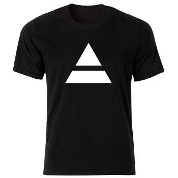 تی شرت آستین کوتاه مردانه طرح مثلث کد ۱۸۱۹۱ BW
