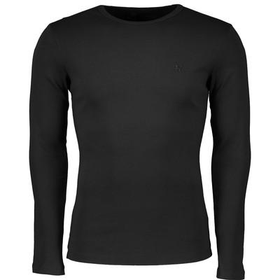 تصویر تی شرت مردانه سیاوود مدل CNECK-LS-B 32805 S0006 رنگ مشکی