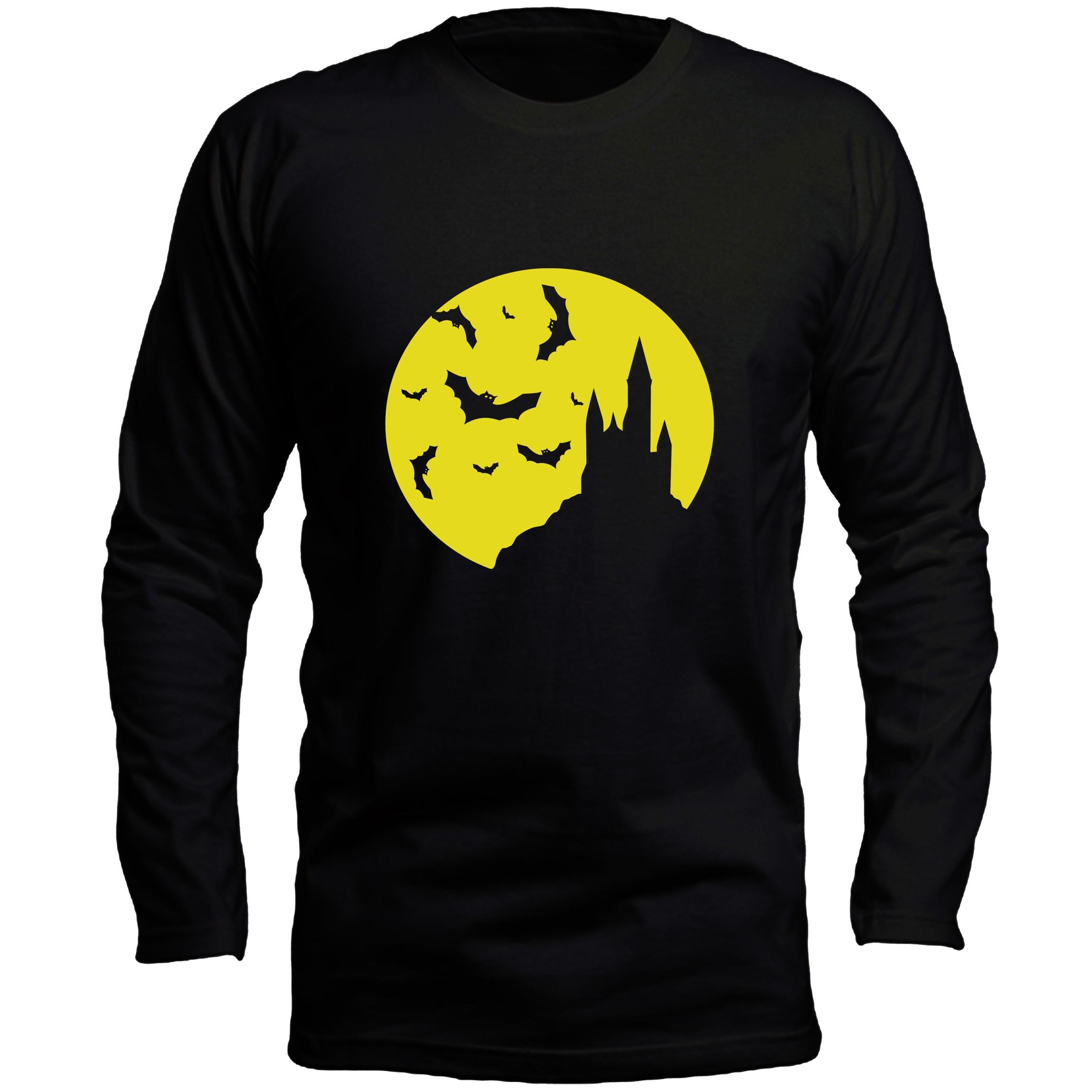تی شرت آستین بلند مردانه طرح خفاش کد LB166