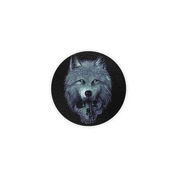 استیکر لپ تاپ ماسا دیزاین طرح wolf مدل STK796