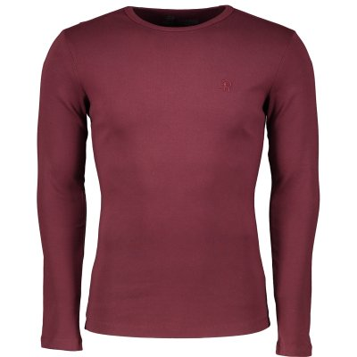 تی شرت مردانه سیاوود مدل CNECK-LS-B 32805 R0188 رنگ زرشکی