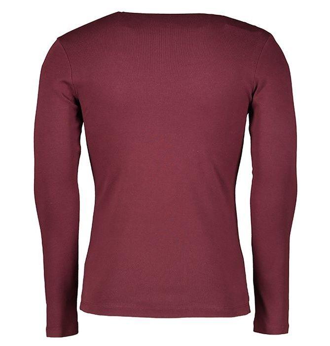 تی شرت مردانه سیاوود مدل CNECK-LS-B 32805 R08 رنگ زرشکی