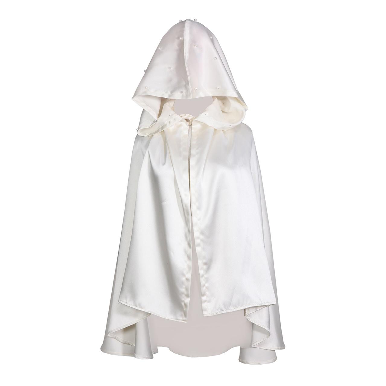 خرید ارزان شنل عروس جنس ساتن مدل مروارید کد 1077098