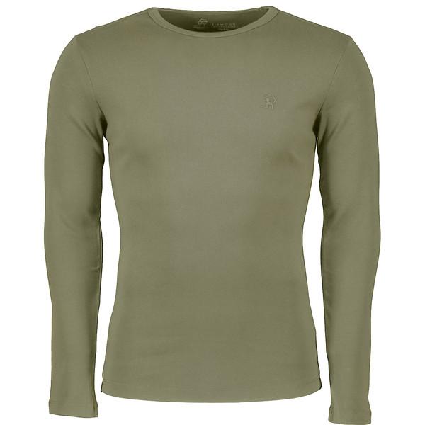 تی شرت مردانه سیاوود مدل CNECK-LS-B 32805 G0206 رنگ زیتونی