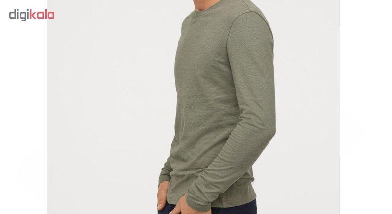 تیشرت آستین بلند مردانه اچ اند ام مدل 0569984019