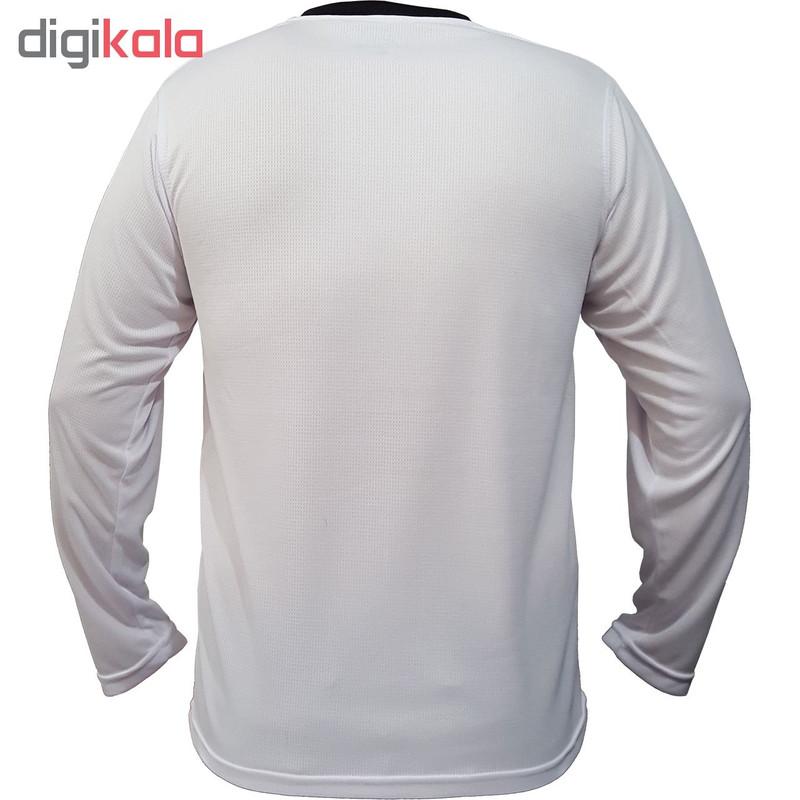 تیشرت ورزشی مردانه پرگان مدل میسا کد 08 رنگ سفید
