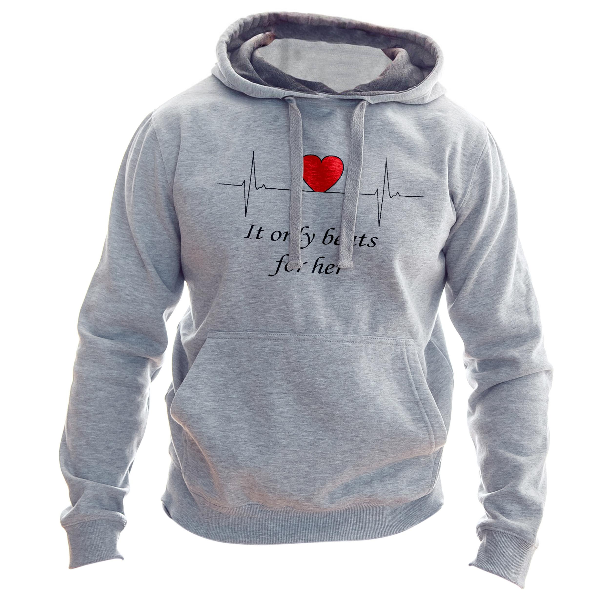 هودی مردانه به رسم طرح ضربان قلب کد 174