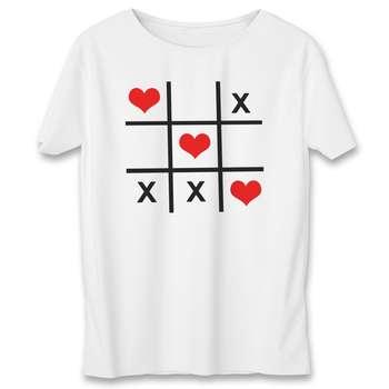 تی شرت مردانه به رسم طرح دوز قلب کد 372