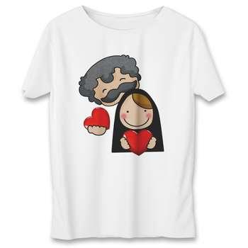 تی شرت مردانه به رسم طرح زوج کد 377