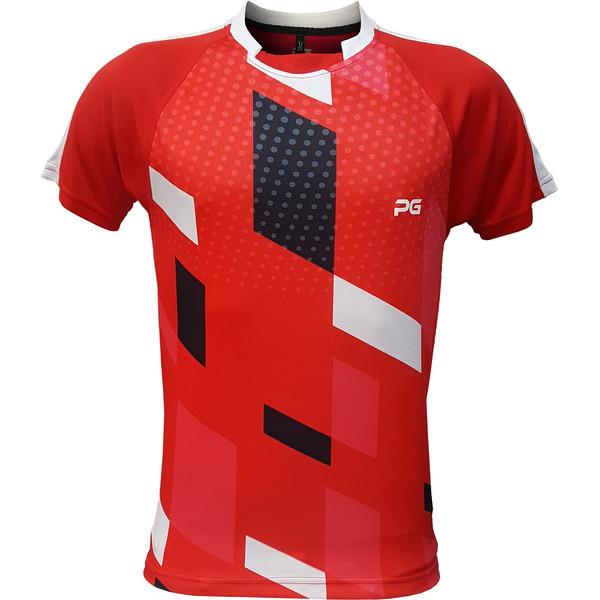 تیشرت ورزشی مردانه پرگان مدل افرا کد 07 رنگ قرمز