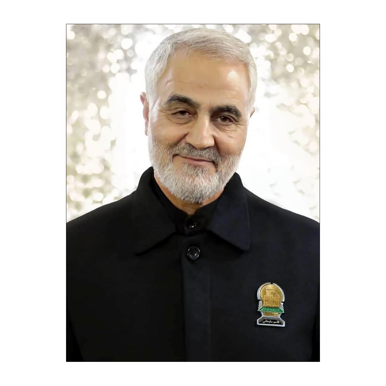 تابلو شاسی طرح شهید حاج قاسم سلیمانی مدل GS-1001