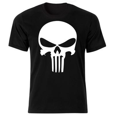 تی شرت آستین کوتاه زنانه طرح اسکلت کد 18011 BW