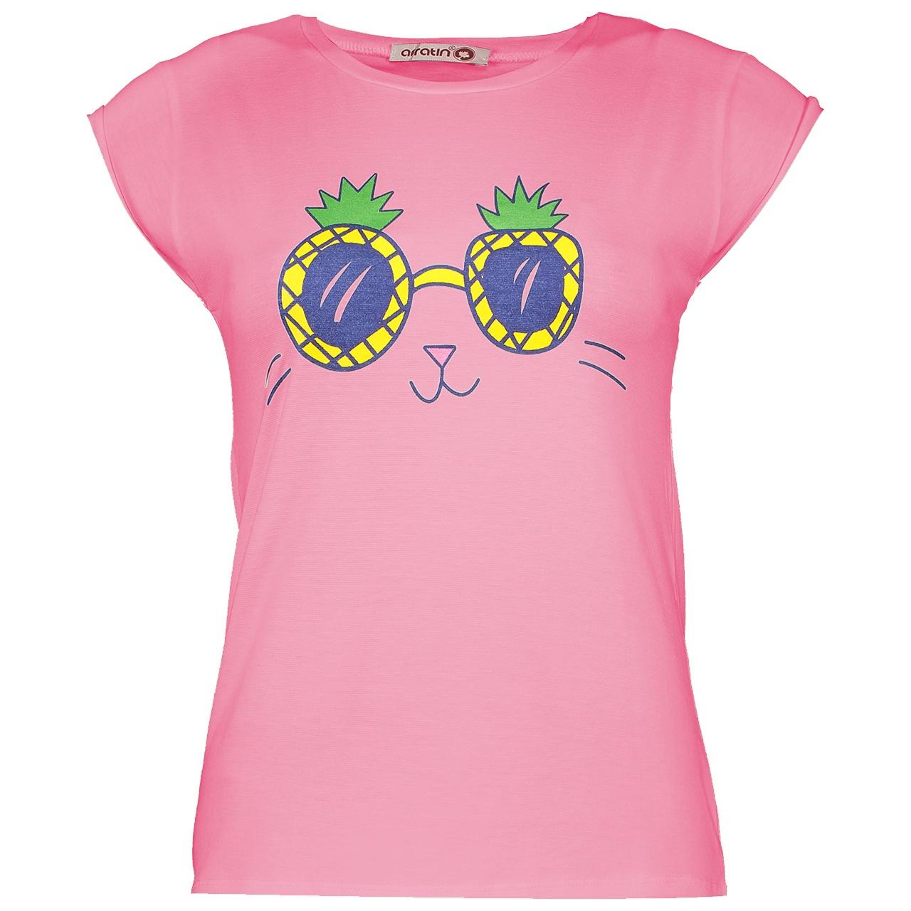 تی شرت زنانه افراتین کد 2533/5 رنگ صورتی