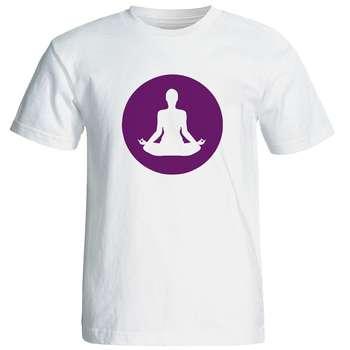 تی شرت  مردانه طرح یوگا کد 12875