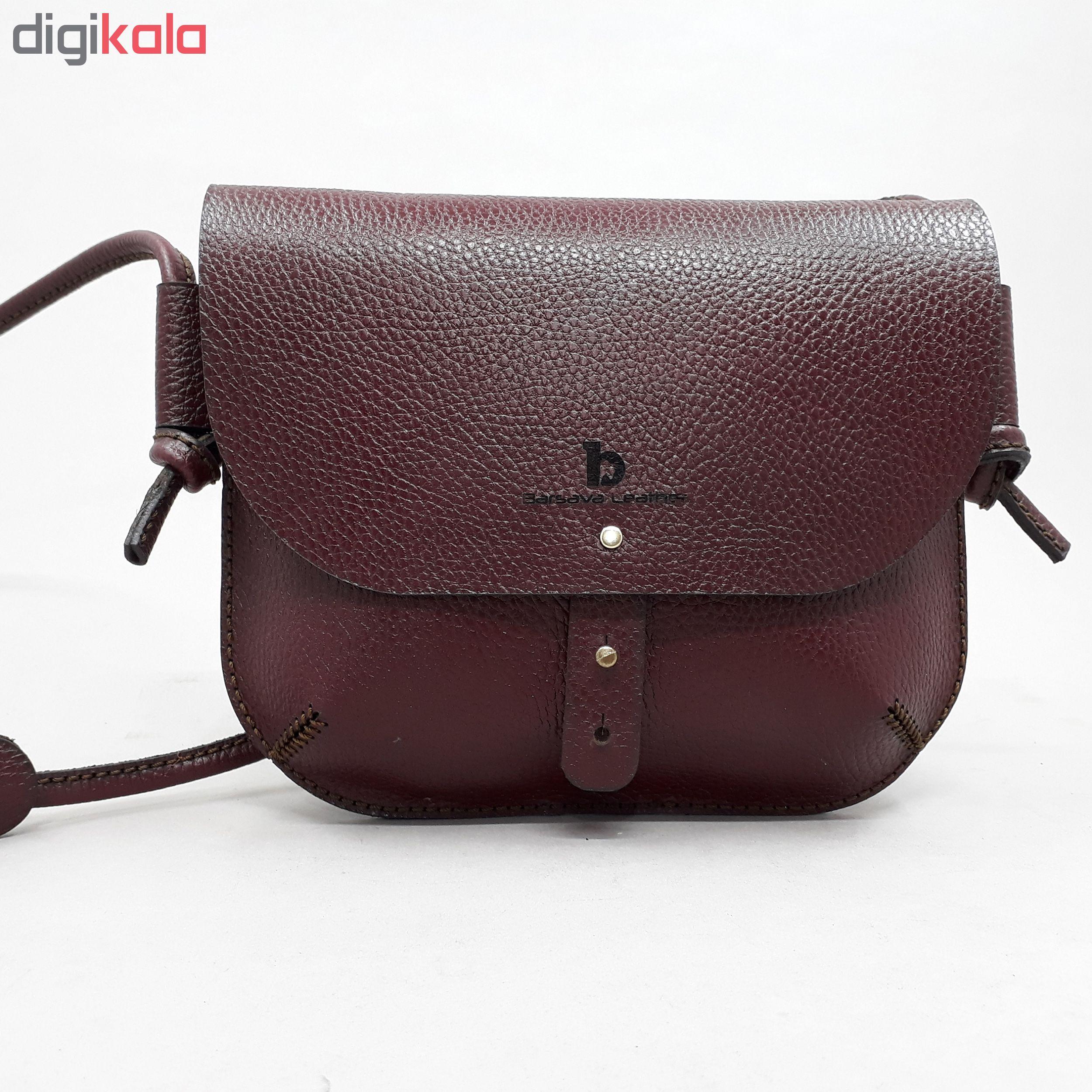 کیف دوشی زنانه چرم بارثاوا کد1261