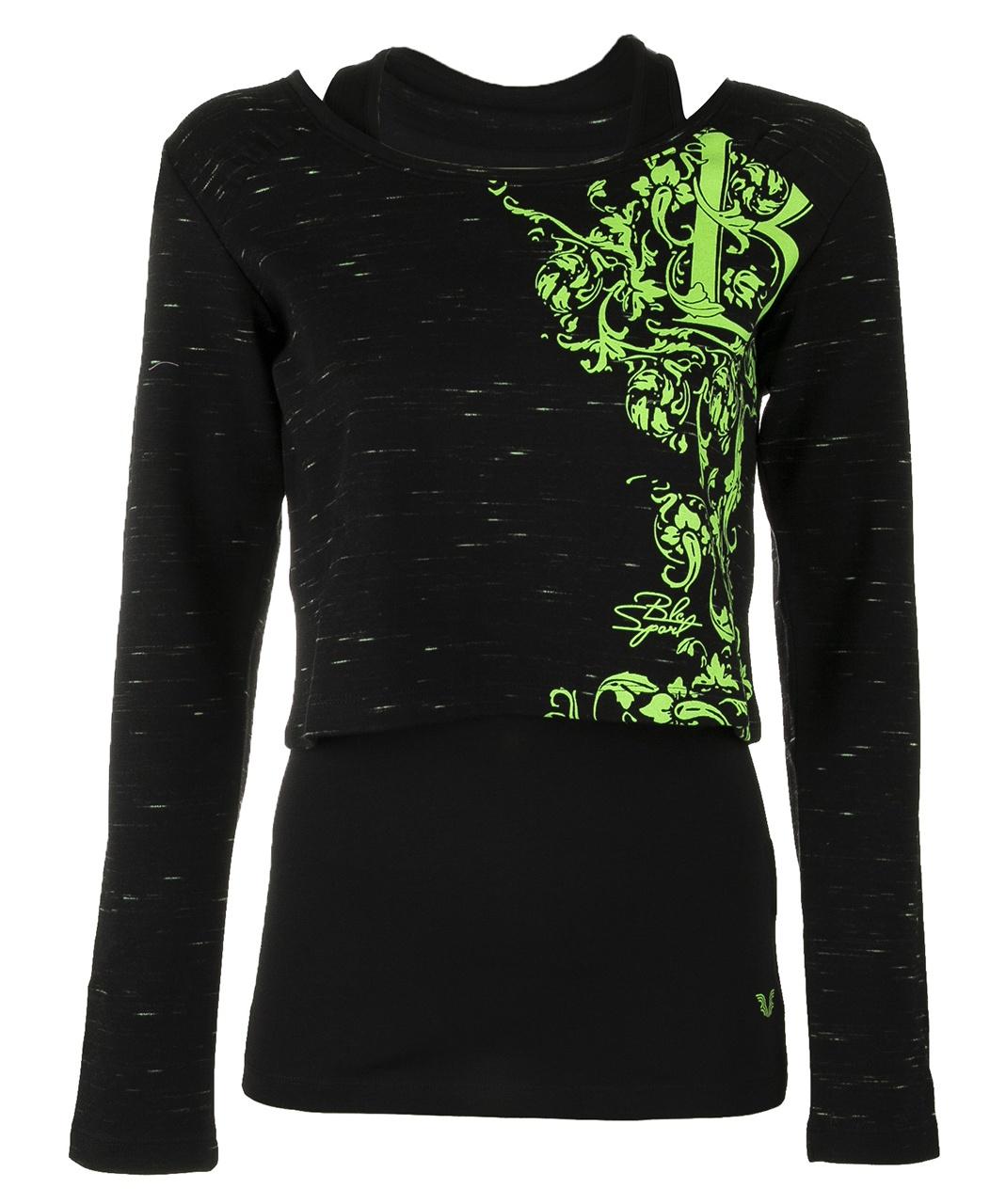 تصویر ست تاپ و تی شرت زنانه بیلسی مدل 51W8384-IN-SIYAH-NEONYESIL