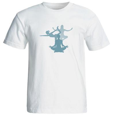تی شرت  زنانه طرح یوگا کد 12884