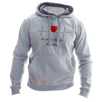 هودی زنانه به رسم طرح ضربان قلب کد 174