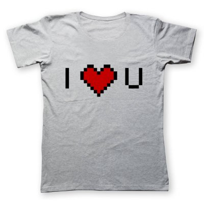 تی شرت زنانه به رسم طرح دوستت دارم کد 470